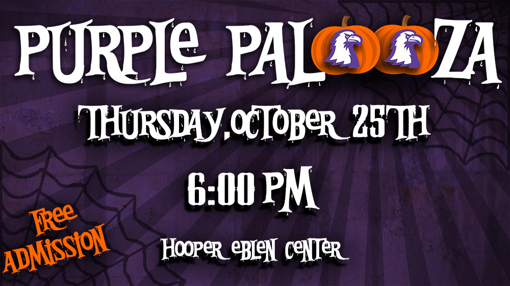 Seventh annual Purple Palooza set for Thursday, Oct. 25 at Eblen Center