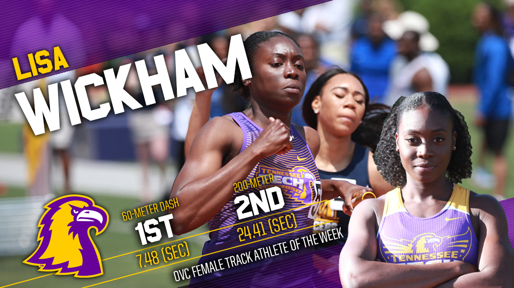 Wickham wins OVC Track Athlete of the Week, extends Golden Eagles' streak to five