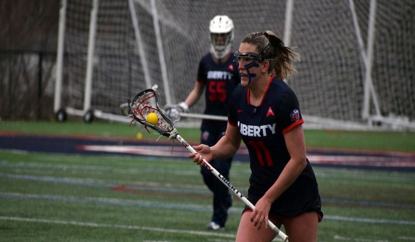 Quast and White Notch Hat Tricks in Liberty's 10-7 Victory at Robert Morris