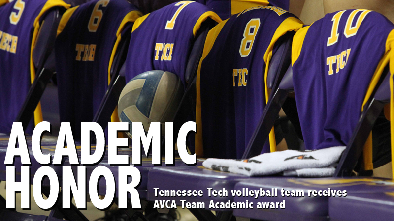 Tennessee Tech volleyball team receives AVCA Team Academic award