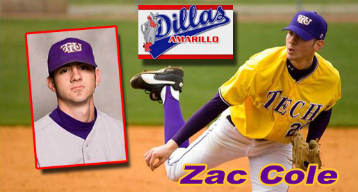 Former Tech pitcher Zac Cole joins Amarillo Dillas roster