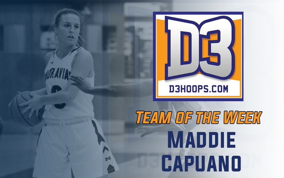 Junior Maddie Capuano named to D3hoops.com Team of the Week