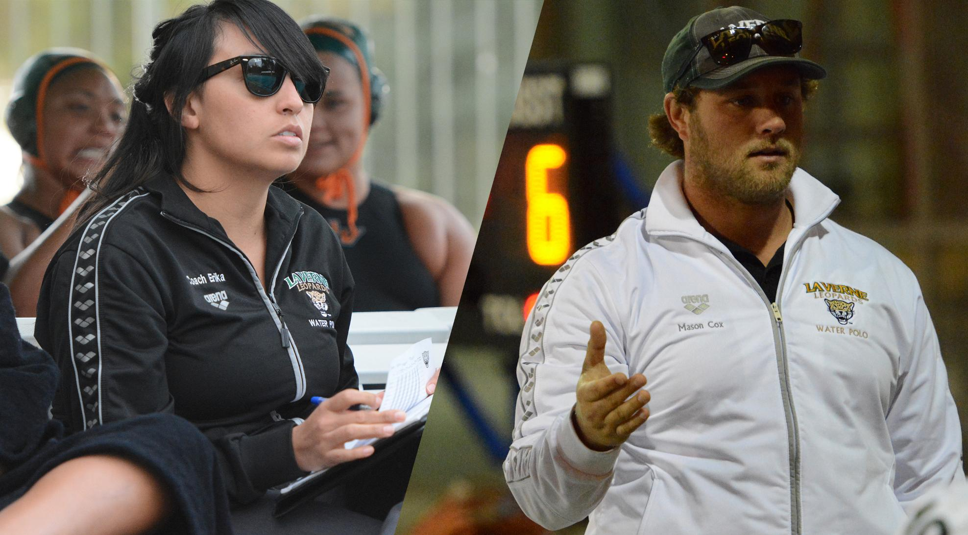 Cox, Vargas tabbed to lead water polo programs in 2016-17