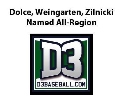 Rams Notch Three on D3baseball.com All-Region Team
