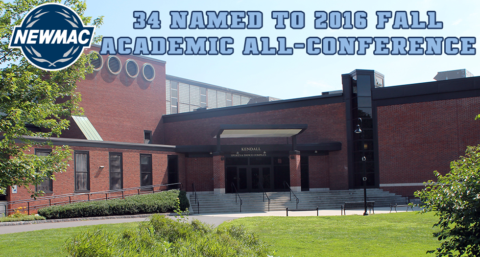 NEWMAC Announces 2016 Fall Academic All-Conference Squads