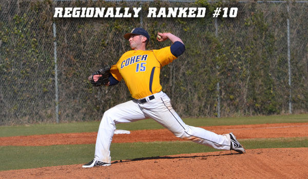 Coker Baseball Cracks Second Regional Poll