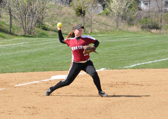 Softball falls in two games at CC tournament