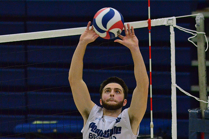Medaille Defeats Men's Volleyball in Four