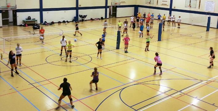 Teaching defensive techniques highlight Volleyball training camp
