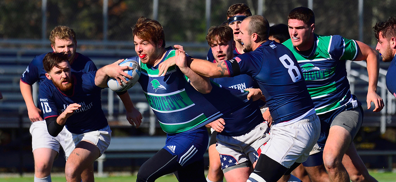 Men's rugby action.
