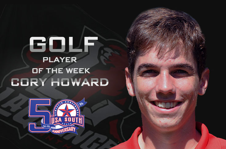 Golf: Howard named USA South Golf Player of the Week