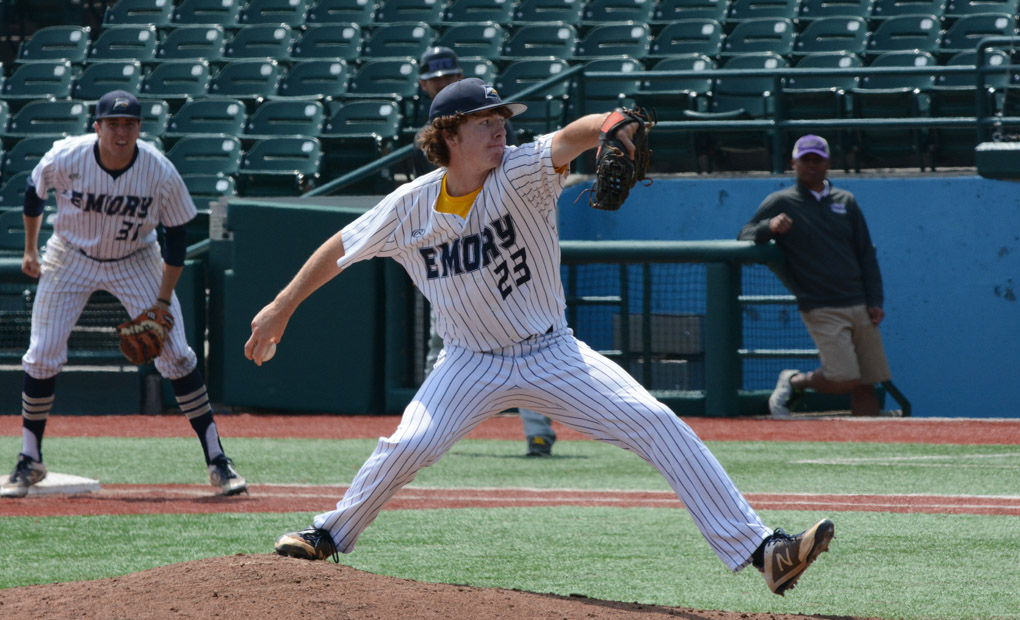 Moore Goes Eight Strong as Emory Baseball Snaps Losing Skid