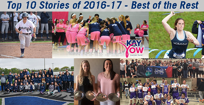 Some of the stories that missed the Top 10 Countdown including Play 4Kay, Special Olympics, Women's Track Landmark Conference title, and student-athlete awards.