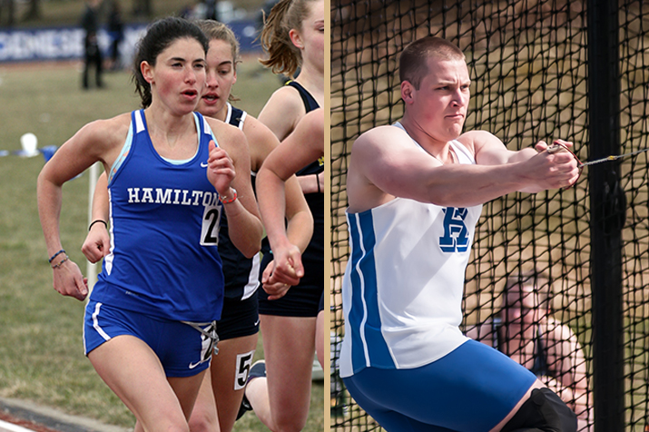 Hanna Jerome '18 and Ty Kunzman '20 (Brett Hull and Michael P. Doherty photos)
