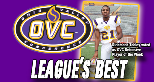 Just reward: Tooley named OVC Defensive Player of the Week