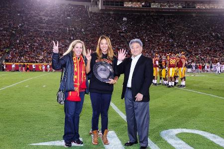 Honda Award Winner Annie Park Honored At Halftime of USC Football Game