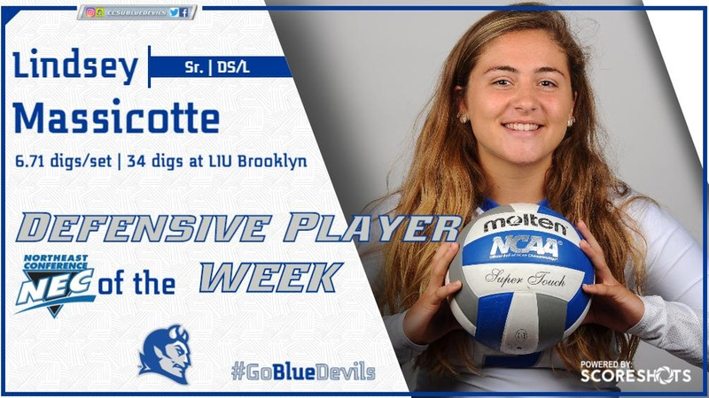 Massicotte Named Molten/NEC Defensive Player of the Week