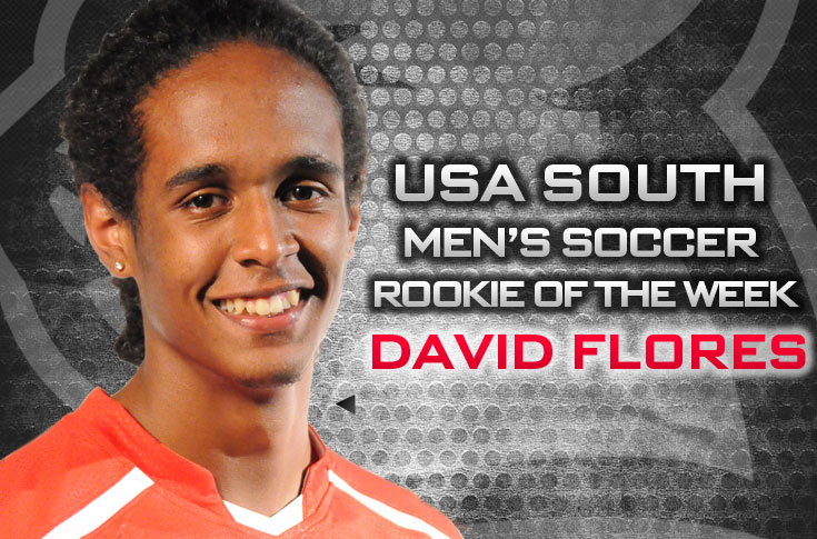 Men's Soccer: Flores selected as USA South Men's Soccer Rookie of the Week