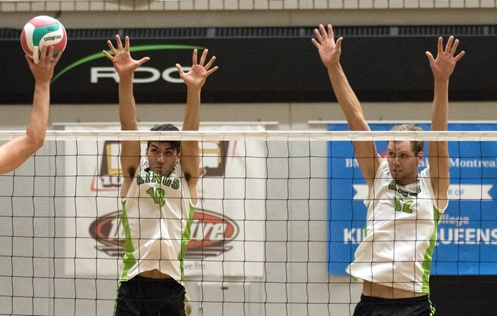 Ben Holmes (10) and Ben Hankins (12) played prominent roles in the five set victory at RDC. Photo - Tony Hansen