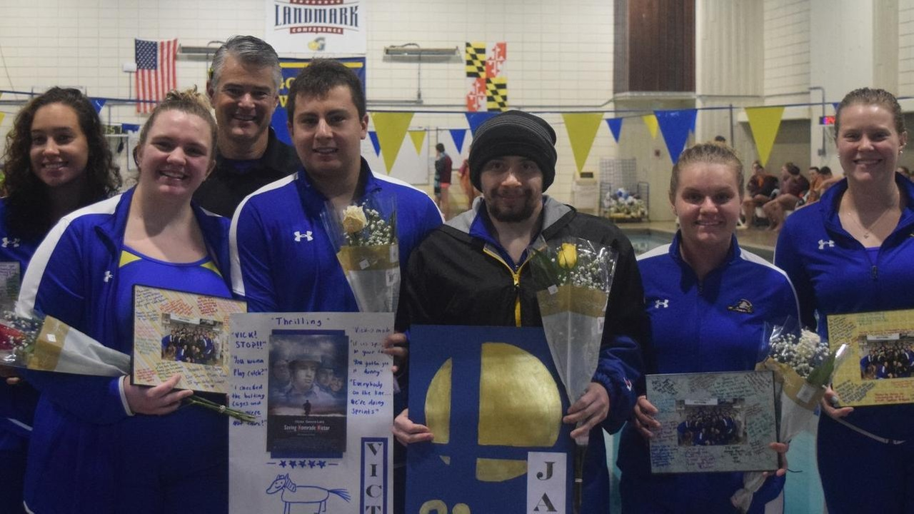 Goucher Swim Team Senior Day Splashed by Susquehanna