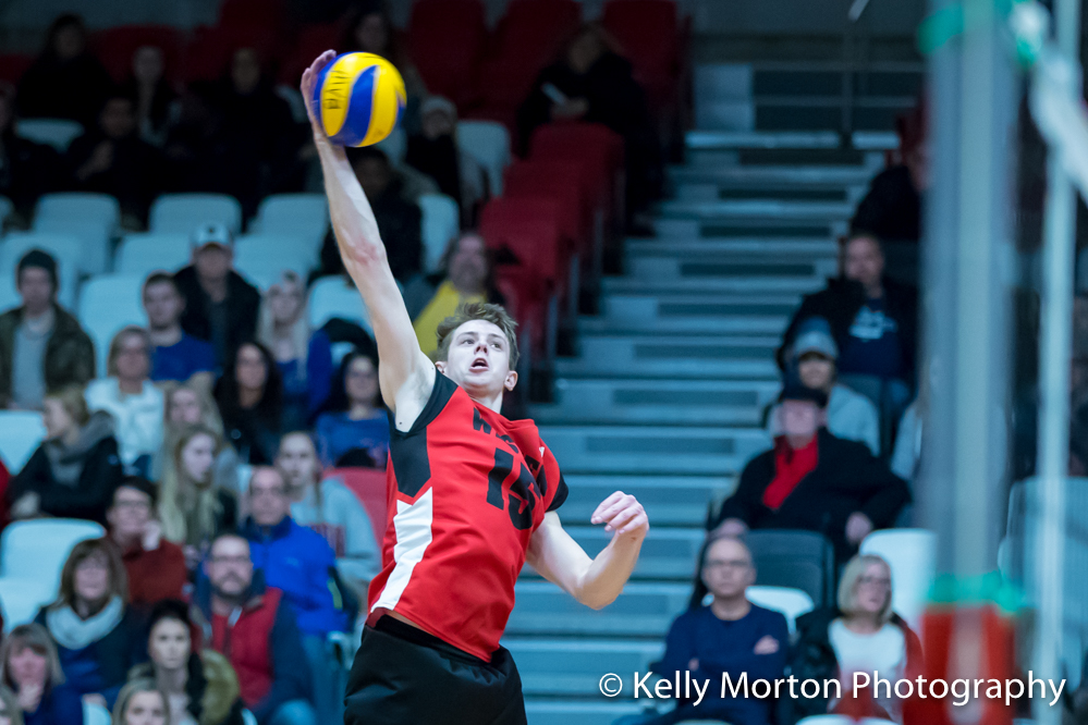 Adrian Dyck had a match-high 21 kills to lead the Wesmen Thursday night.