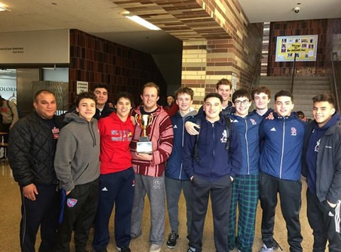 Varsity Swim team wins the Sun Warrior Invitational at Solorio Academy! Congratulations!