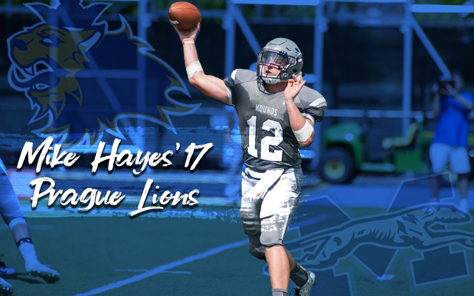 Mike Hayes '17 has signed a contract to play internationally with the Prague Lions.