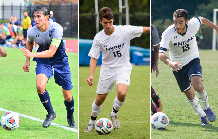 Three from Emory Men's Soccer Named to All-UAA Team