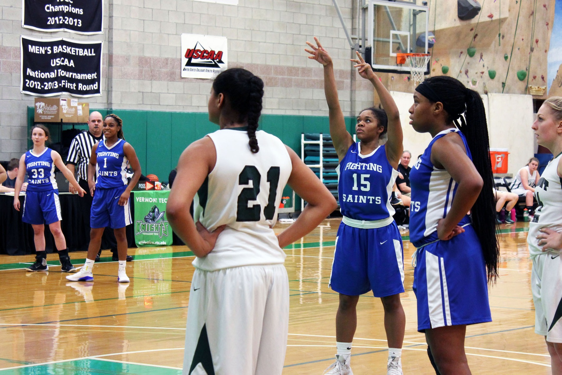 Lady Saints travel to Rivier University