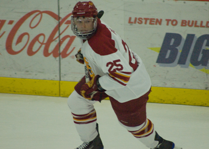 Blair Riley honored as the CCHA's November Player of the Month.