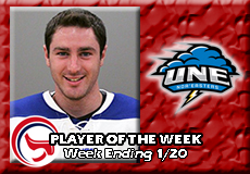 Brady Fleurent-University of New England, Men's Ice Hockey: Player of the Week