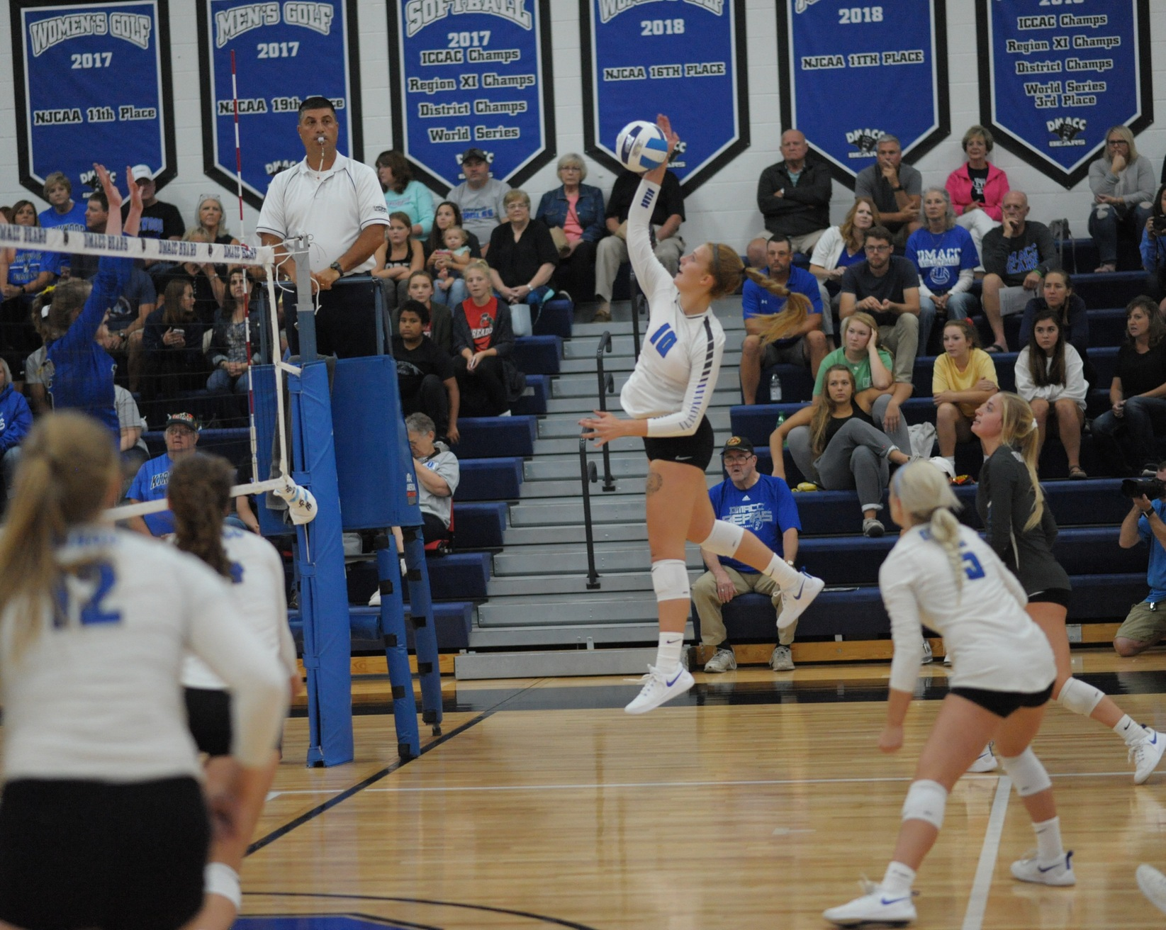 DMACC volleyball team takes three of four matches in Parkland Tournament