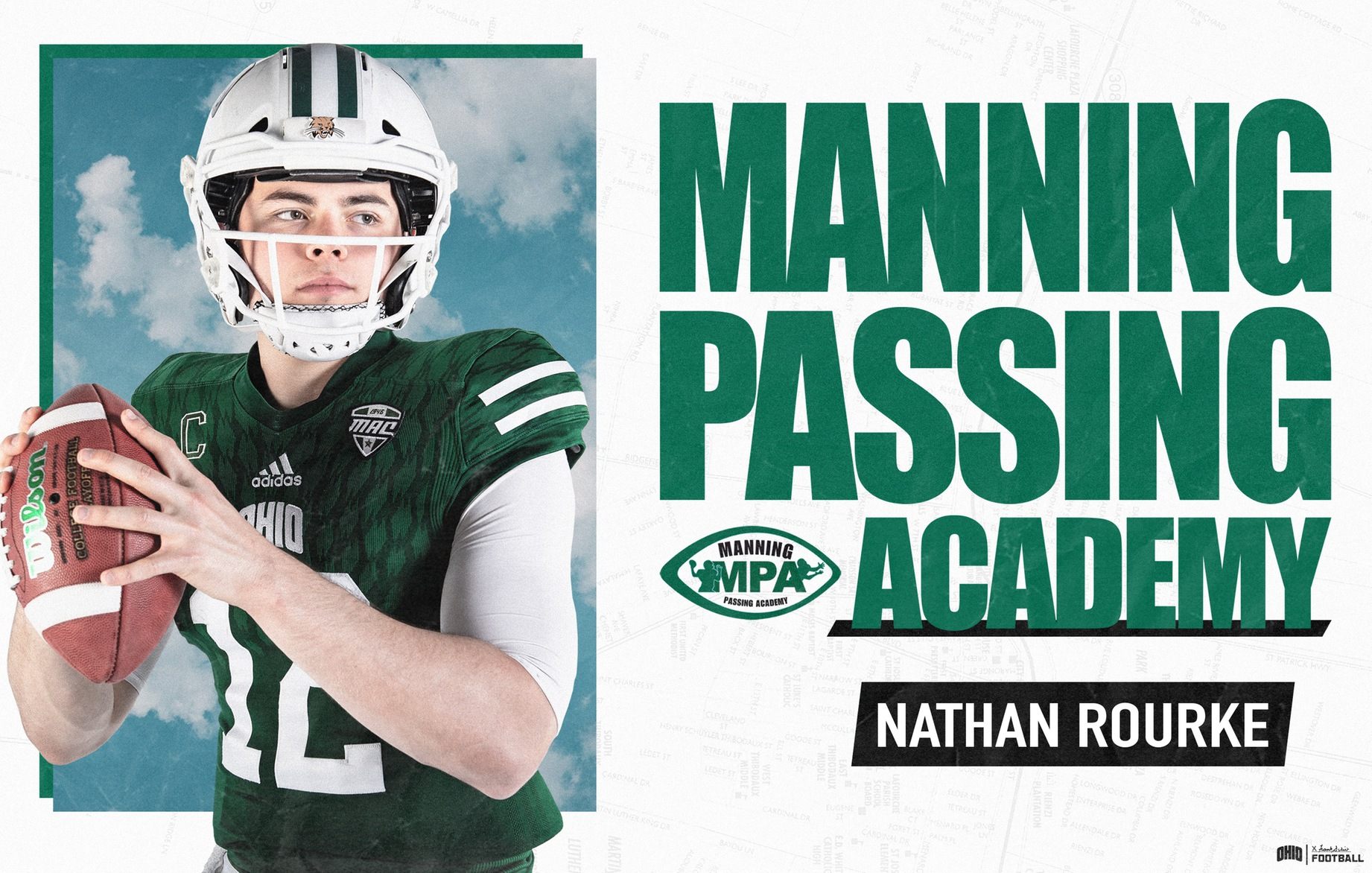 Ohio Football's Rourke To Attend 2019 Manning Passing Academy