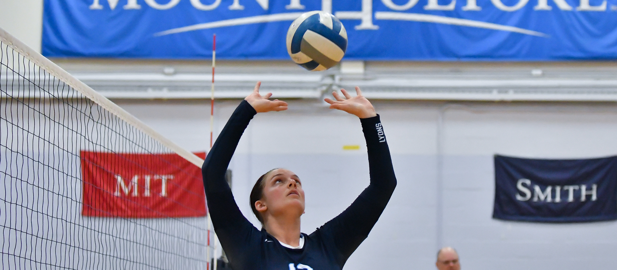 Action photo of Lyons volleyball player Melissa Stewart