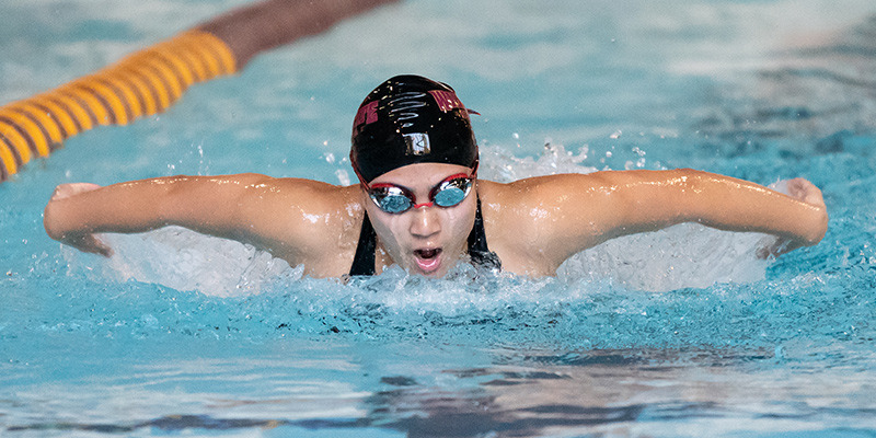 Bearcats Fall to Whitworth in Swimming; Wei and Ludwig each Win an Event