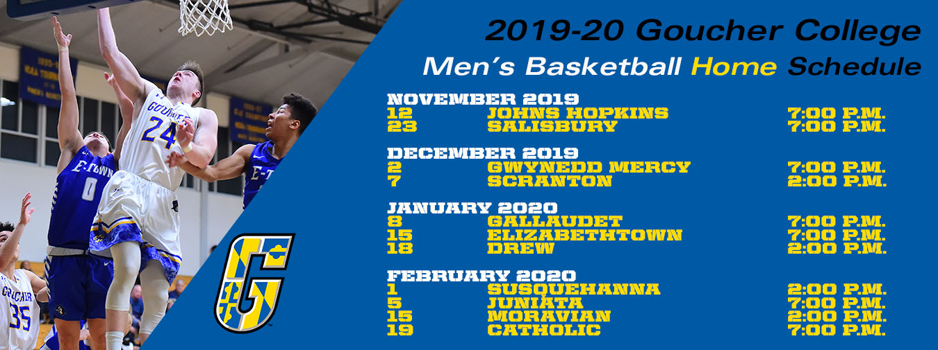 Goucher Men's Basketball Announces 2019-20 Schedule