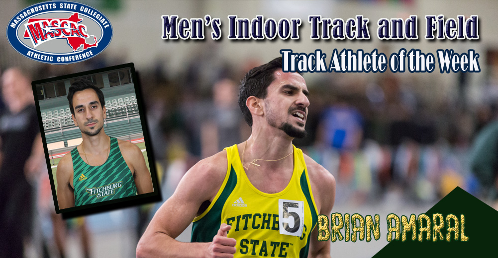 Amaral Selected MASCAC Men's Indoor Track Athlete Of The Week