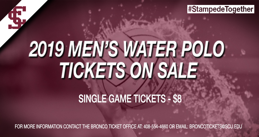 Tickets for the 2019 Men's Water Polo Season On Sale