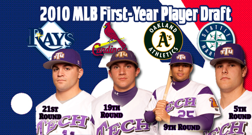Golden Eagles go pro; four ball players selected in MLB's 2010 First-Year Player draft