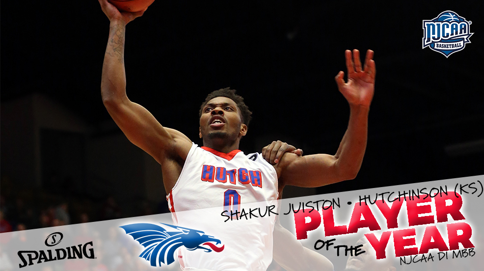 Hutchinson's Shakur Juiston named DI Player of the Year
