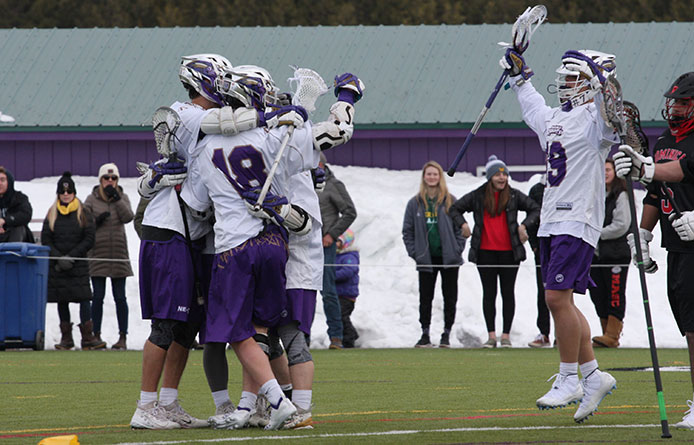 Nationally-Regarded Men's Lacrosse Uses Third-Quarter Spurt to Double Up Dominican