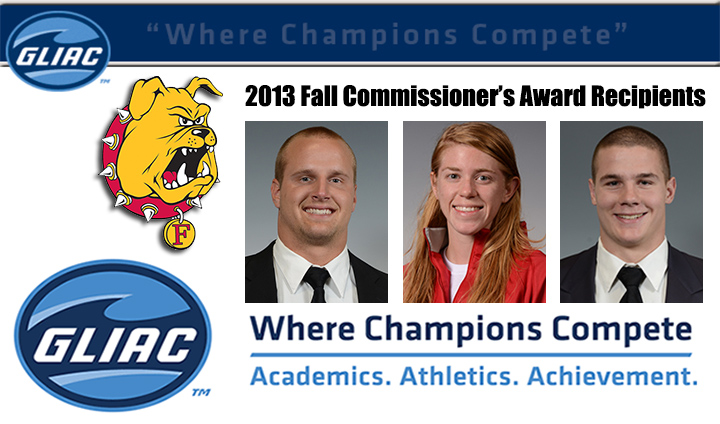 Three Ferris State Student-Athletes Recognized As League's Best For Fall Campaign