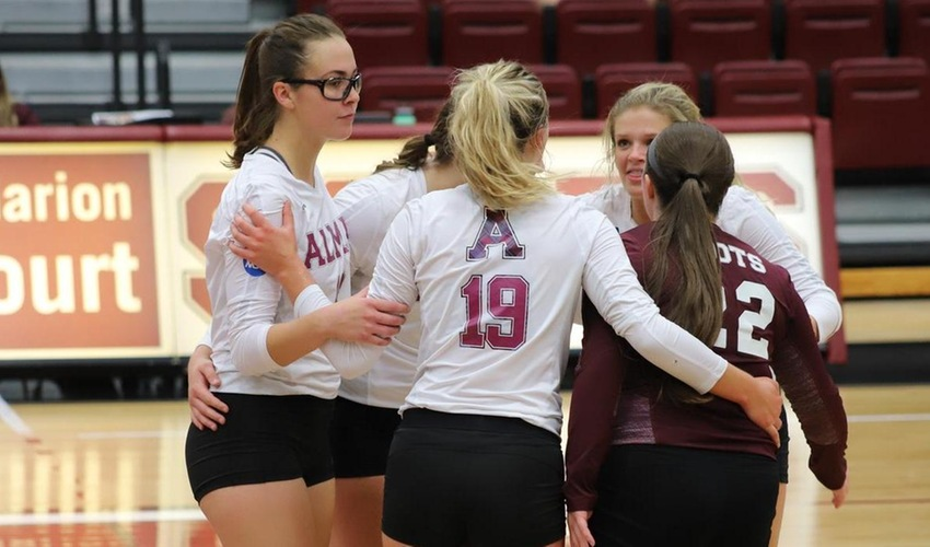 Volleyball Splits a Pair at Millikin