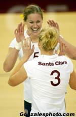 Volleyball Places Five on All-WCC Teams