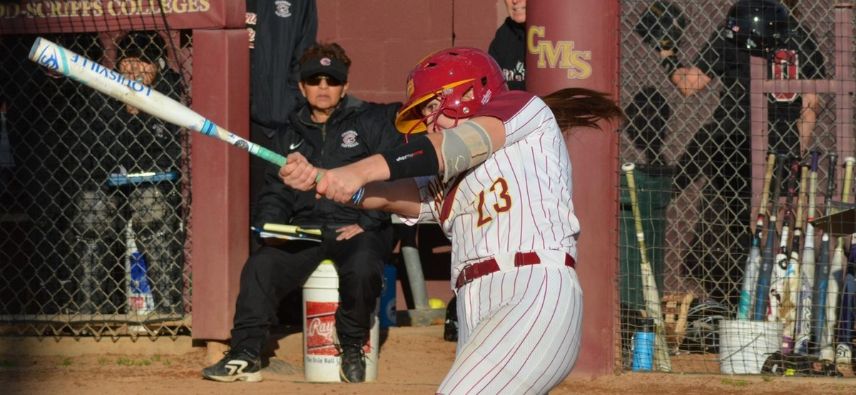 Sophomore Maddie Valdez has a home run in each of the first five doubleheaders this year for the Athenas