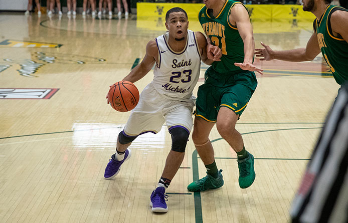 Men's Basketball Loses at Regionally-Ranked Bentley
