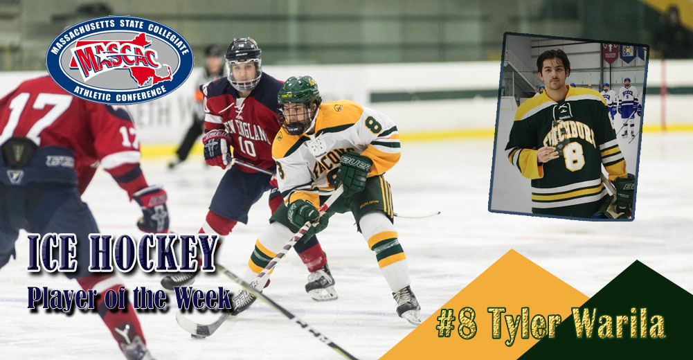 Warila Selected MASCAC Ice Hockey Player Of The Week