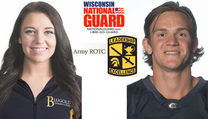 Axness and Larsen Receive Athlete of the Month Honors