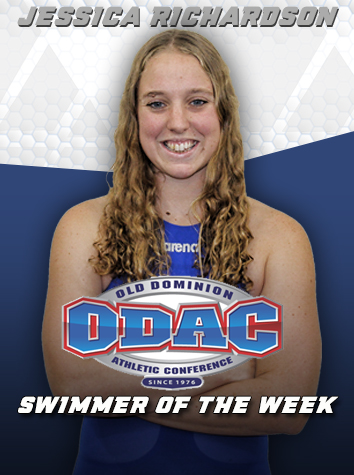 Jessica Richardson Named ODAC Women's Swimmer of the Week