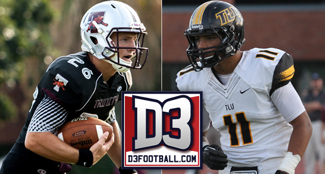 Trinity's Kennemer; TLU's Johnson Earn Spot on D3football.com Team of the Week